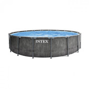 PISCINE TUBULAIRE INTEX ROND BALTIK EFFET BOIS 5.49 x 1.22 M