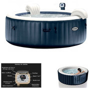 SPA GONFLABLE INTEX PURE SPA PLUS BULLES 6 PLACES 28410