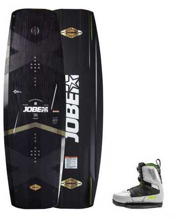 WAKEBOARD JOBE CONFLICT 145 & CHAUSSES NITRO SET GRIS 2019