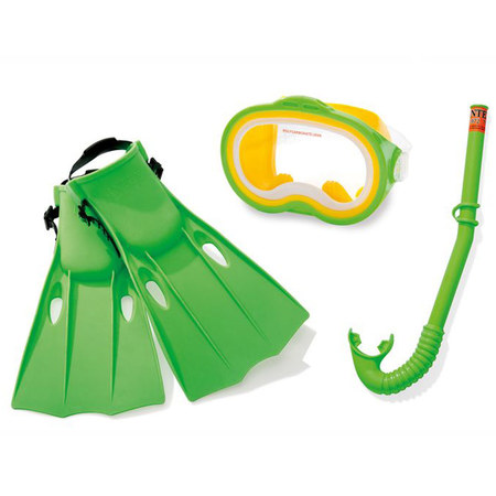KIT PLONGEE SNORKELING PALME MASQUE TUBA ENFANT INTEX 55655