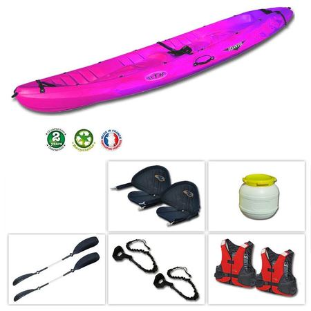 KAYAK ROTOMOD OCEAN DUO ROSE/BLANC OCCASION