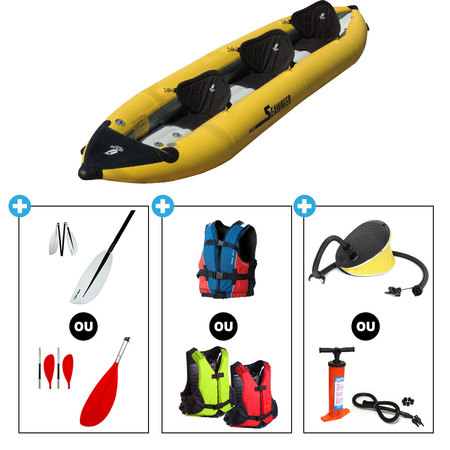 KAYAK AQUADESIGN SEA WEAVER 3 PLACES JAUNE SW3