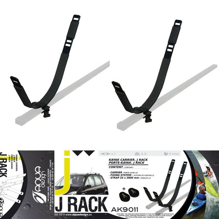 BARRE DE TOIT KAYAK J RACK AQUADESIGN