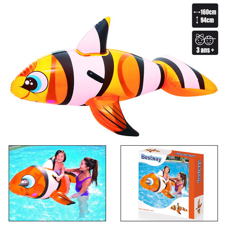 POISSON CLOWN CHEVAUCHABLE BESTWAY 41088