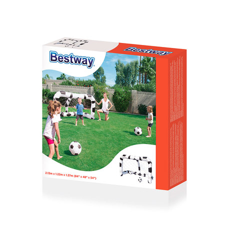 BUT DE FOOTBALL + 2 BALLONS BESTWAY 52058