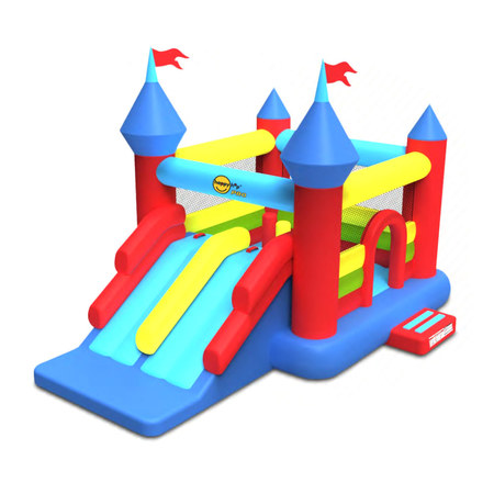 CHATEAU GONFLABLE HAPPY HOP SUPER CASTLE BOUNCER DOUBLE SLIDE