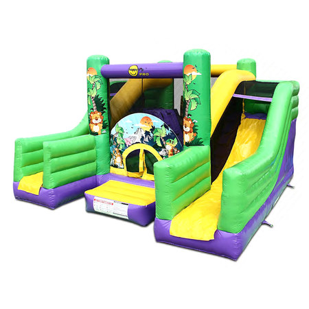 CHATEAU GONFLABLE HAPPY HOP JUNGLE SUPER BOUNCER DOUBLE SLIDE