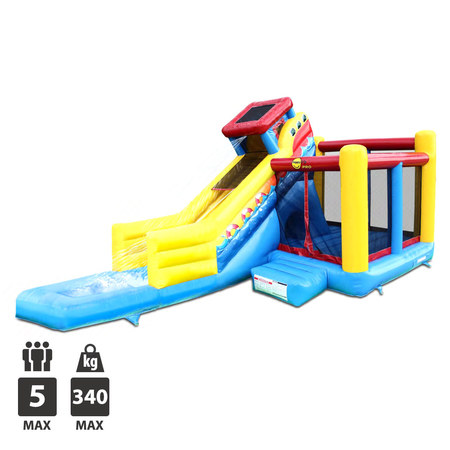 CHATEAU GONFLABLE HAPPY HOP SAILING SLIDE BOUNCER