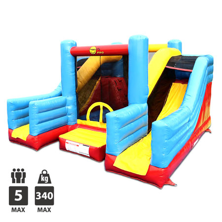 CHATEAU GONFLABLE HAPPY HOP SUPER BOUNCER DOUBLE SLIDE
