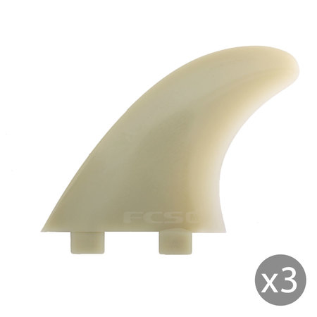 AILERONS FCS M-7 NATURAL GLASS FLEX LARGE SET DE 3