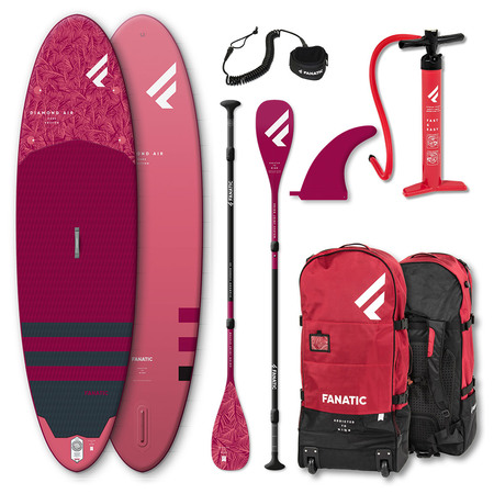 PADDLE FANATIC DIAMOND AIR 9.8 2021 GONFLABLE COMPLET + PAGAIE CARBON DIAMOND C35