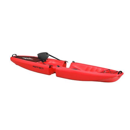 KAYAK MODULABLE SIT ON TOP POINT 65°N FALCON SOLO ROUGE
