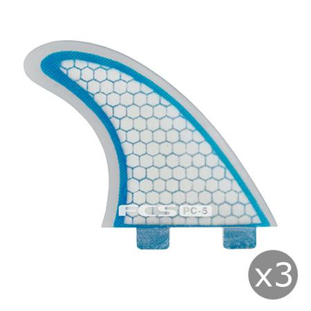 AILERONS FCS PC-5 BLUE CLEAR SET DE 3