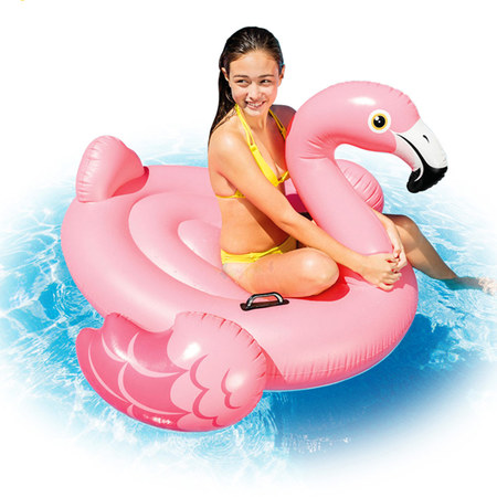 FLAMANT ROSE CHEVAUCHABLE INTEX 57558NP