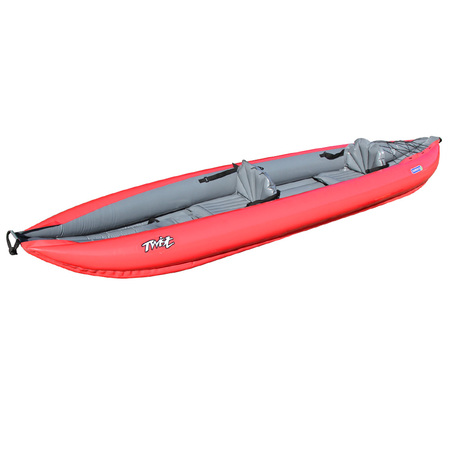 PACK KAYAK GUMOTEX TWIST 2/1 CONVERTIBLE NITRILON ROUGE +PAGAIE STD + GONFLEUR