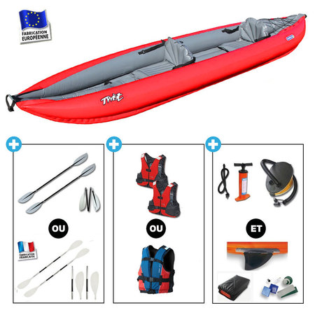 KAYAK GUMOTEX TWIST 2 NITRILON LIGHT ROUGE