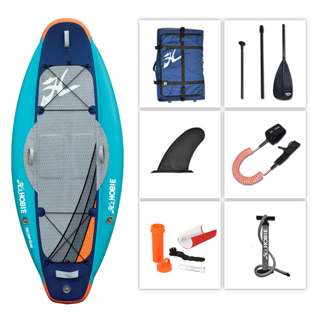 STAND UP PADDLE GONFLABLE HOBIE DAY TRIP 2016 08.0 + 1 PAGAIE FIBRE + LEASH