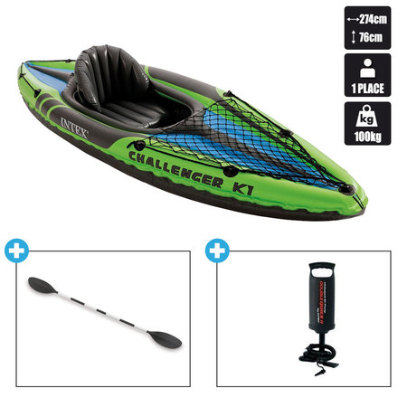 KAYAK GONFLABLE INTEX CHALLENGER K1 68305NP