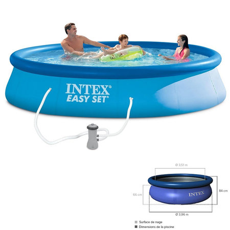 KIT PISCINE EASY SET INTEX 3M96X84CM 28142NP