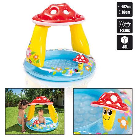 Piscine bebe intex mushroom baby pool pas cher en vente for Piscine bebe champignon