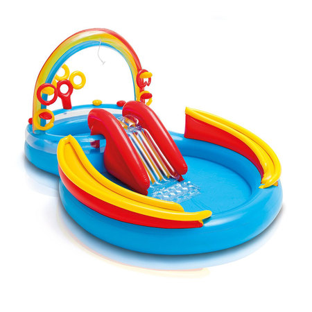 PISCINE POUR ENFANTS INTEX RAINBOW RING PLAY CENTER 57453NP