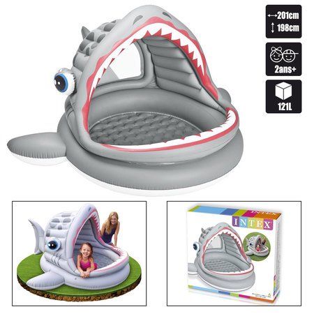 PISCINE REQUIN INTEX ROARIN SHARK SHADE POOL 57120