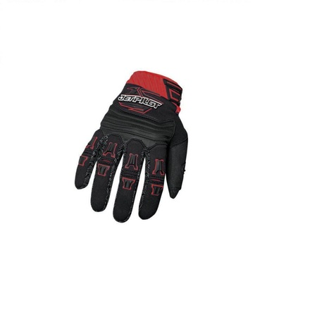 GANTS JET PILOT FULL FINGER GLOVES RED