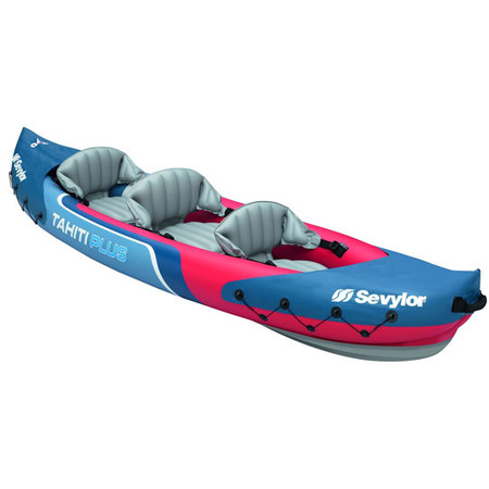 PACK KAYAK SEVYLOR TAHITI PLUS 3 PLACES KAYAK +PAGAIES STD +GONFLEUR