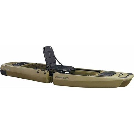 PACK KAYAK MODULABLE POINT 65°N KINGFISHER SOLO KAKI + MOTEUR A PEDALE POINT 65°N IMPULSE DRIVE PACKKINGFISHER