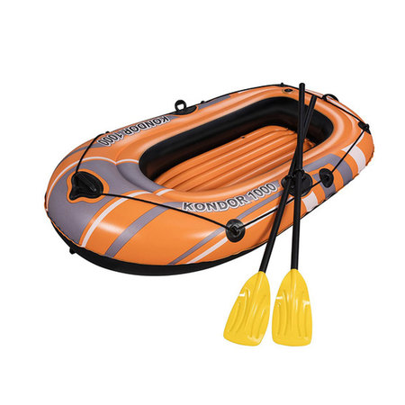 BATEAU GONFLABLE BESTWAY HYDROFORCE 155 CM + PAGAIES 61078