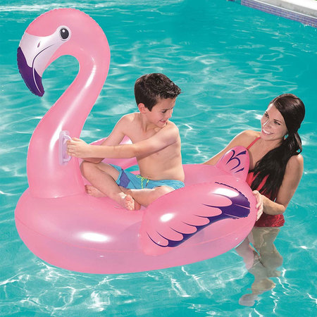 BOUEE GONFLABLE FLAMANT ROSE CHEVAUCHABLE BESTWAY