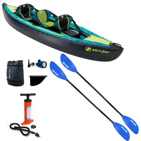 PACK KAYAK SEVYLOR OTTAWA LUXE +PAGAIES STD +GONFLEUR