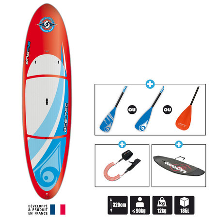 SUP BIC 10.6 PERFORMER RED ACE-TEC
