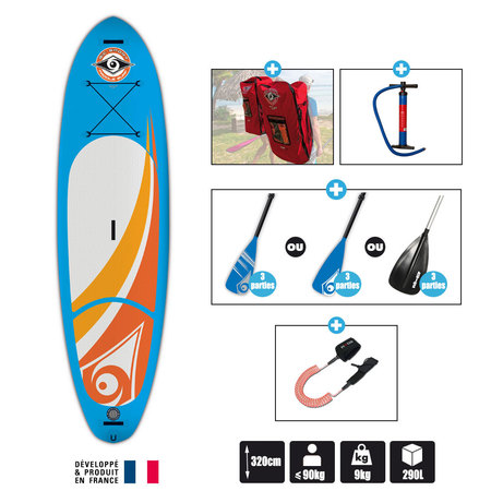 SUP BIC AIR 10.6 SUP GONFLABLE 2016