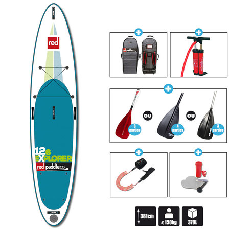 SUP GONFLABLE RED PADDLE 12.6 EXPLORER