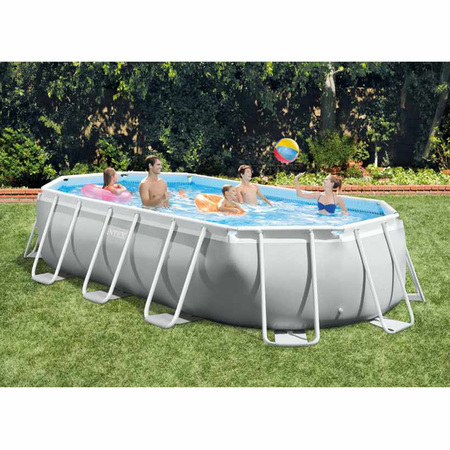 PISCINE TUBULAIRE OVALE INTEX PRISM FRAME 5,03 X 2,74 x 1,22 M 26796