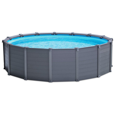 PISCINE TUBULAIRE RONDE INTEX GRAPHITE 4,78 X 1,24M 28382 / 26384GN