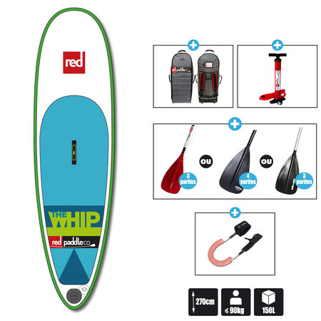 SUP RED PADDLE 8.10 THE WHIP 2016