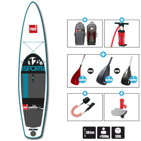 SUP RED PADDLE 12.6 SPORT 2016