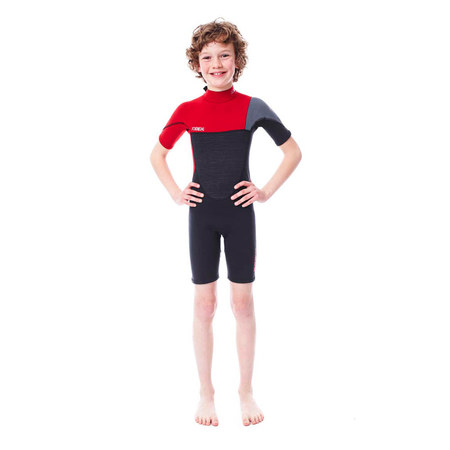 SHORTY JOBE BOSTON 2MM ENFANT BACKZIP ROUGE