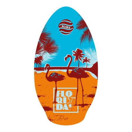 SKIMBOARD SLIDZ WOOD 37 FLORIDA ORANGE 41