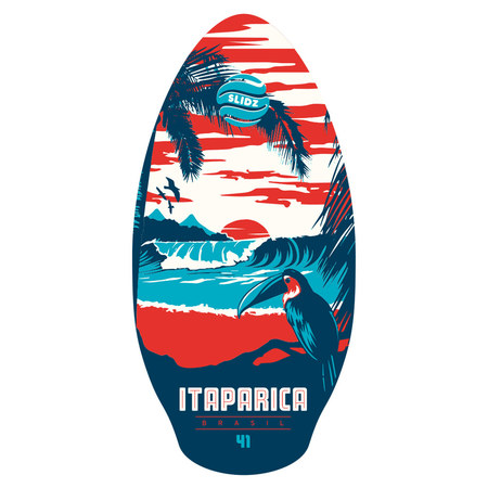 SKIMBOARD SLIDZ WOOD 41 ITAPARICA RED 41