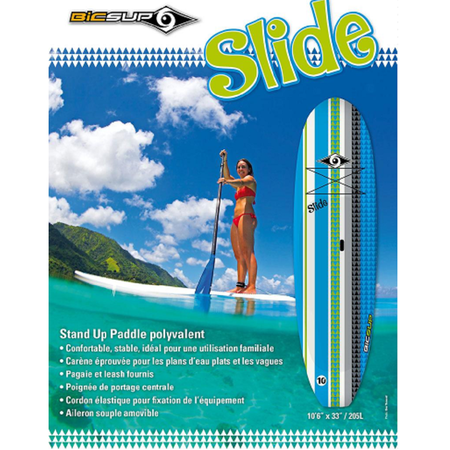 STAND UP PADDLE BIC SLIDE 10.6 + PAGAIE + LEASH