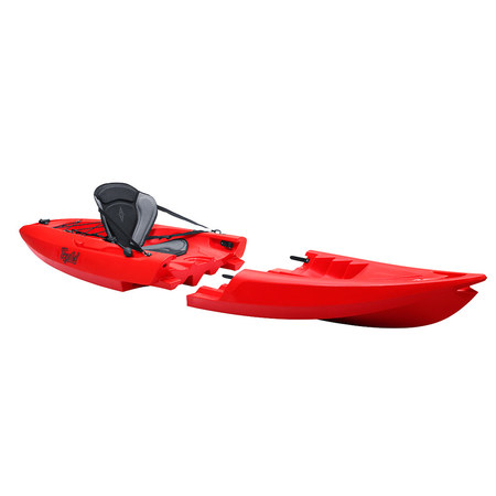 KAYAK MODULABLE SIT ON TOP POINT 65°N TEQUILA GTX SOLO ROUGE SOLO