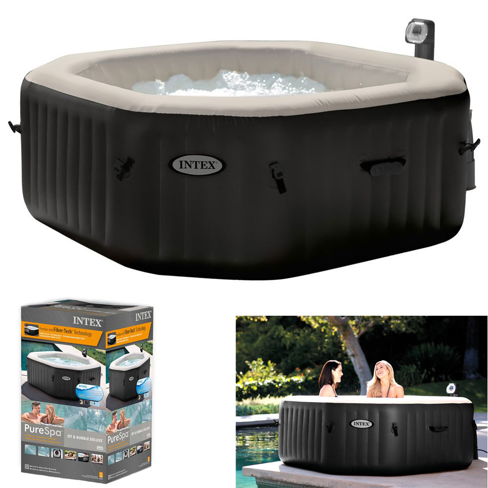 Spa gonflable intex pure spa jets et bulles 4 places pas - Spa gonflable intex pas cher ...
