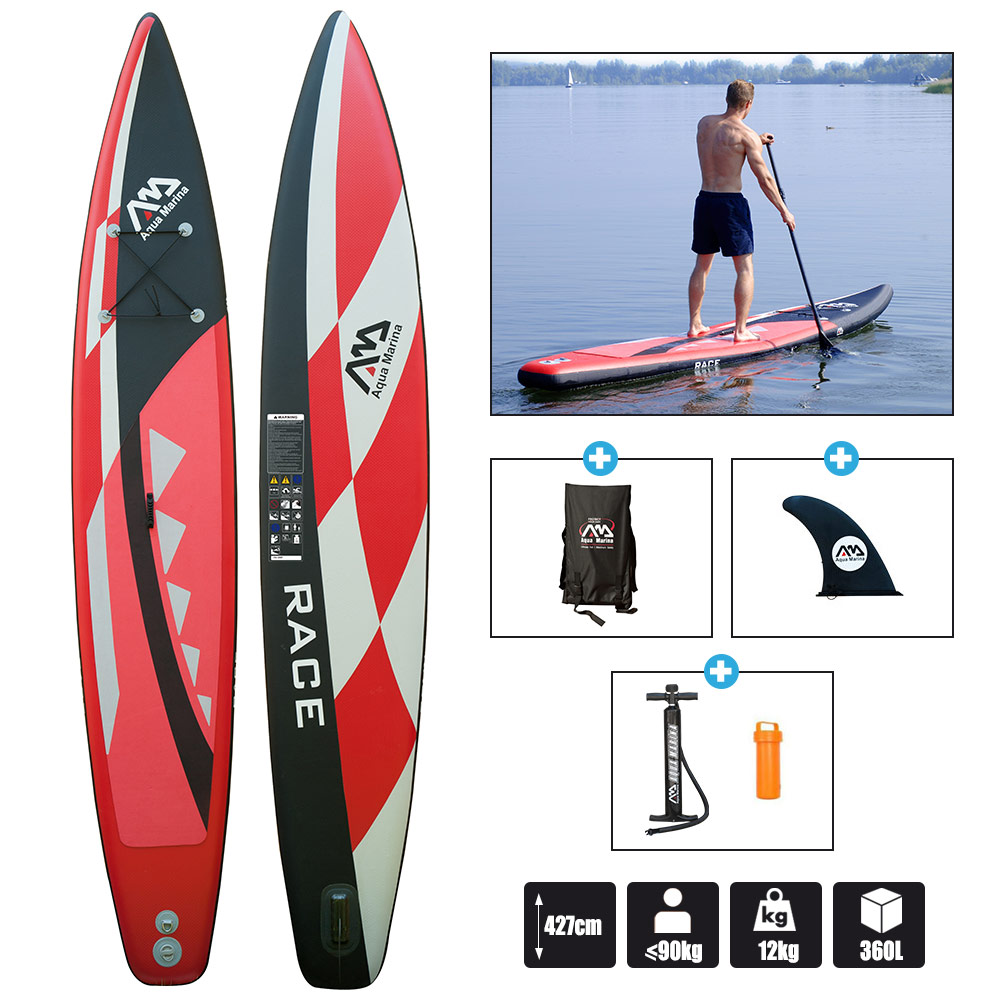 stand up paddle aqua marina race 14 0 2017 pas cher en vente sur stock. Black Bedroom Furniture Sets. Home Design Ideas