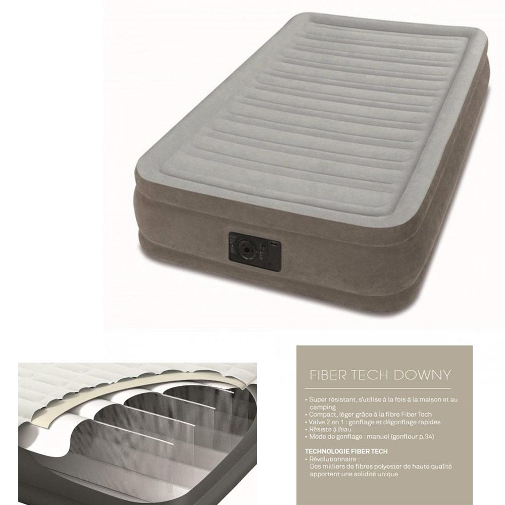 matelas gonflable intex 1 place 67766 pas cher en vente. Black Bedroom Furniture Sets. Home Design Ideas