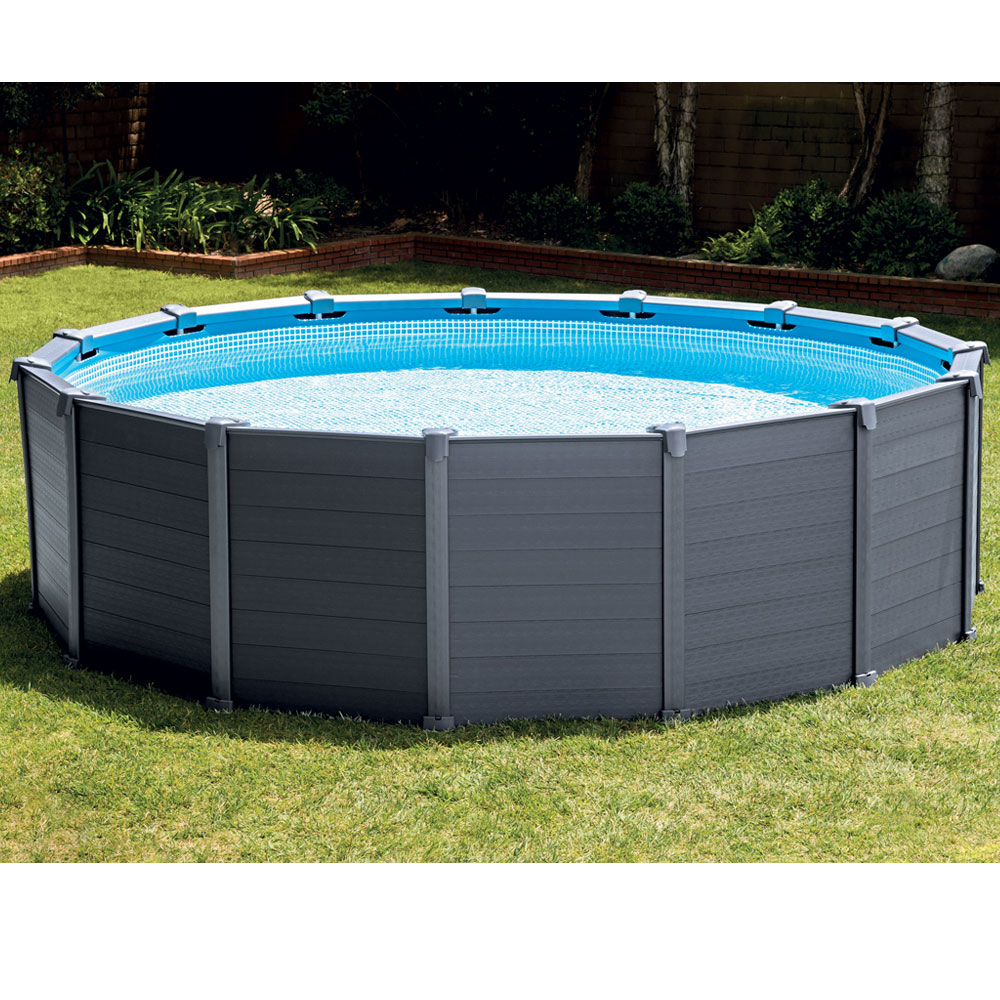 Piscine Tubulaire Ronde Intex Graphite 4 78 X 1 24m