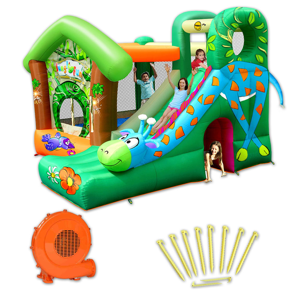 Structure gonflable happy hop jungle fun pas cher en vente sur stock nautig - Structure gonflable happy hop ...