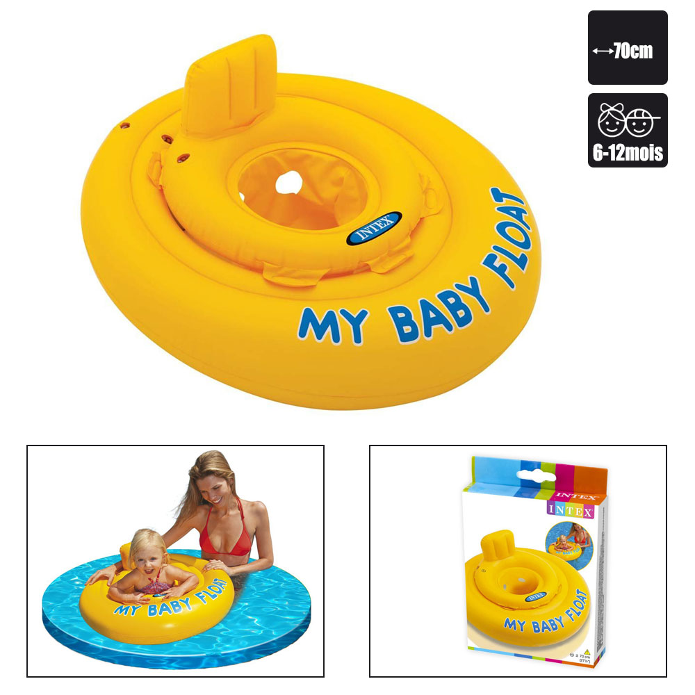Siege flottant intex my baby float pas cher en vente sur for Siege flottant pour piscine